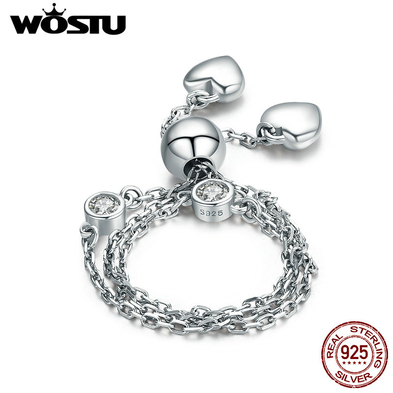 WOSTU New Design 100% 925 Sterling Silver Two Pattern Chain Bracelet For Women Sterling-Silver-Jewelry DIY Gift CQB032 characteristic multi colored tassels design waved pattern body chain for women