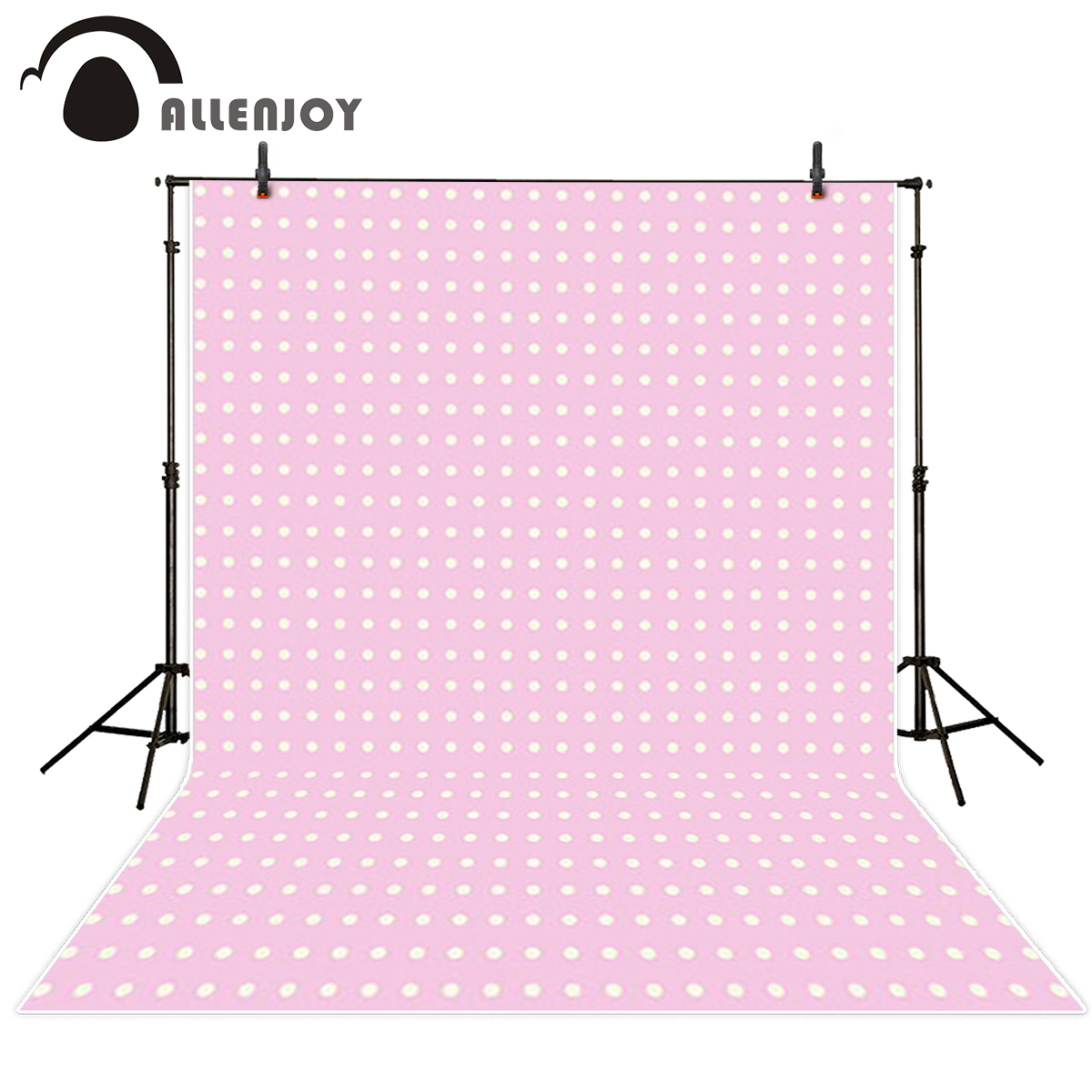 Allenjoy Background for font b photo b font Pink cute children little white dots font b
