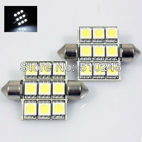 100X C5W 31mm 36mm 39mm 41mm auto lamp 12V Car led festoon light 5050SMD 9 LED SMD 9SMD Auto led LIGHT LAMP bulbs