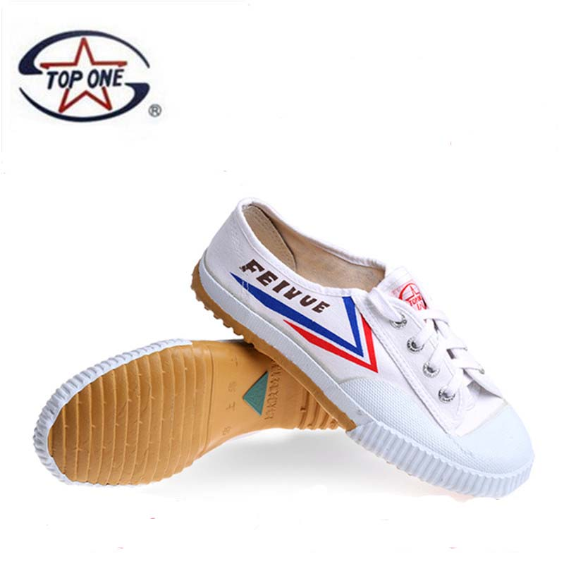 TopOneKungfu Onli Feiyue Track And Field Shoes Wushu Training Shoes Gym Shoes Marathon Running Canvas Shoes For Men And Women