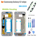 High Quality Replacement Middle Frame for Samsung Galaxy S7 edge SM- G935 Middle Housing Screen Bezel With LCD Adhesive Sticker