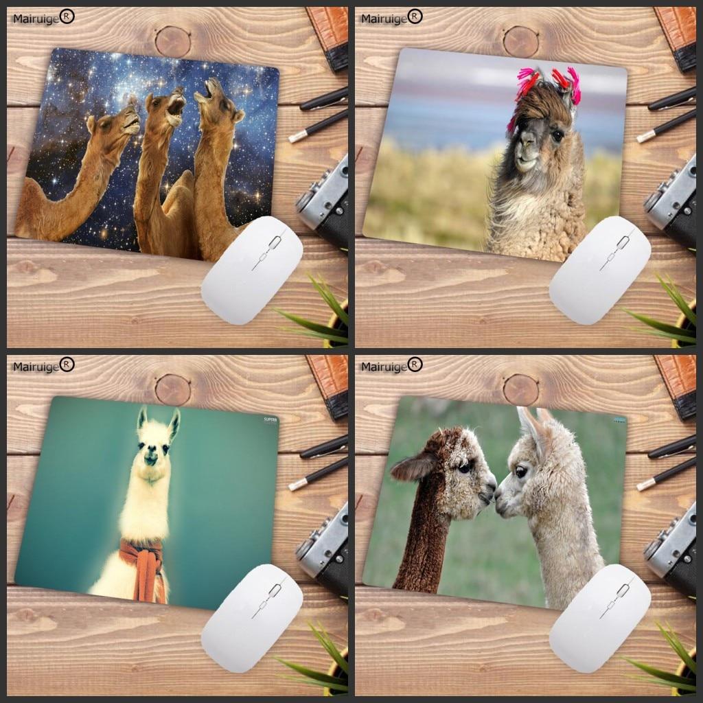 Mairuige Big Promotion Cute Beautiful Anime Llama Professional Mouse Pad Small Size Computer Desktop Game Mouse Pad 22X18CM