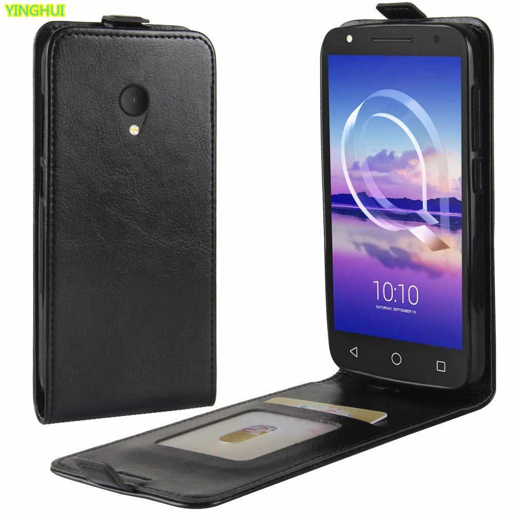 Чехлы для телефонов Alcatel U5 4G 5044D 5044Y роскошный кожаный Вертикальный флип кошелек