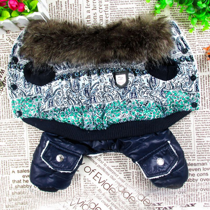 Waterproof Fabric Dog Coat Winter Warm Pet Dog Clothes Thickening Dog Down Jacket Clothing For Pet Dogs Costume For Puppy