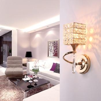 Modern minimalist dining room hallway lamp wall crystal lamp warm romantic bedroom bedside wall lamp wholesale
