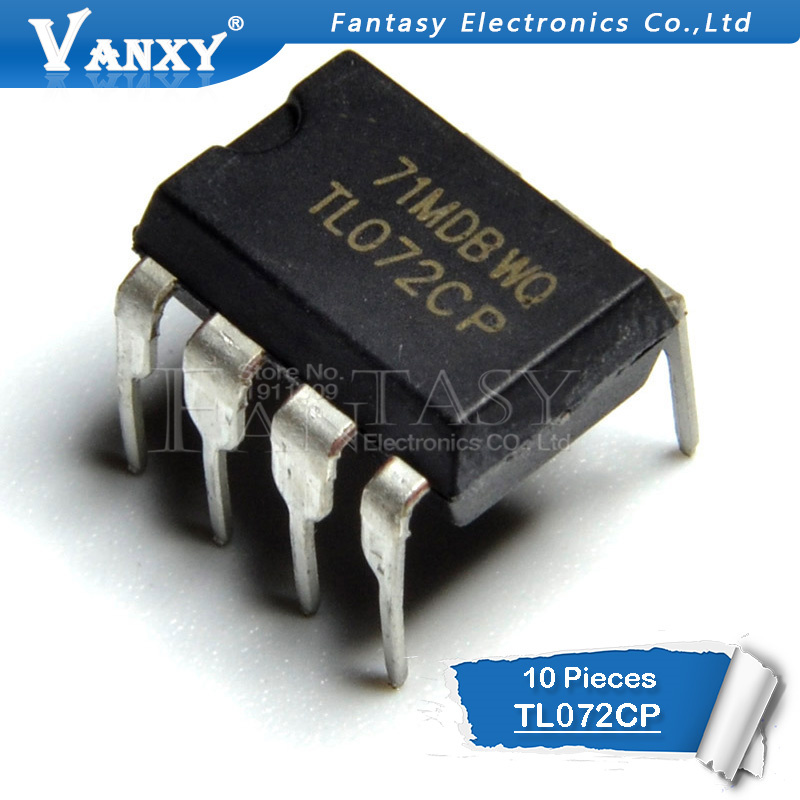 10PCS TL072CP DIP8 TL072 DIP TL072CN DIP-8 New And Original IC
