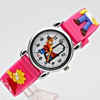 10pcs Free Shipping Children Cartoon Watches Cool 3D Rubber Strap Kids Watch Quartz Watch Clock Hour Christmas Gift Relojes R