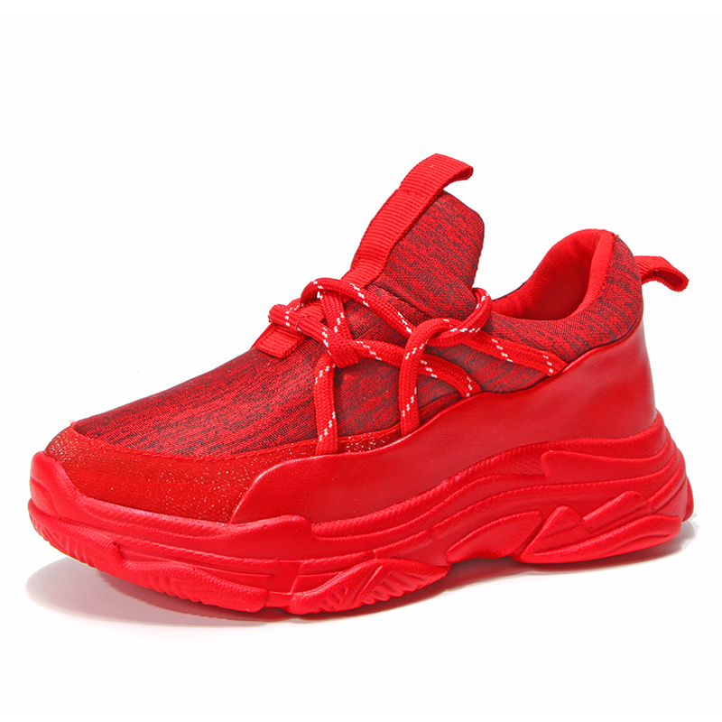2018 Designer Kids Shoes for Girl Red Bottom Casual Breathable Baby Sneakers Sports Slip on Trainers Children Shoes Boy Krasovki