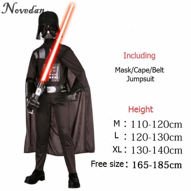 Halloween Costume For Kids Men Darth Vader (Anakin Skywalker) Children Cosplay Party Costume Clothing With Helmet Mask    -