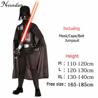 Halloween Costume For Kids Men Darth Vader Anakin Skywalker Children Cosplay Party Costume Clothing With Helmet