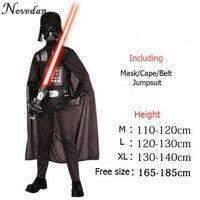 Halloween Costume For Kids Men Darth Vader Anakin Skywalker Children Cosplay Party Costume Clothing With Helmet