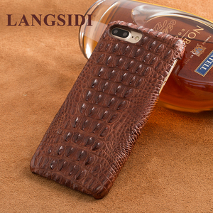 Image 4 - Wangcangli telefon case krokodyl tekstury tylna pokrywa dla iphone X etui na telefony komórkowe pokrywa pełnej obsługi klienta przetwarzanie