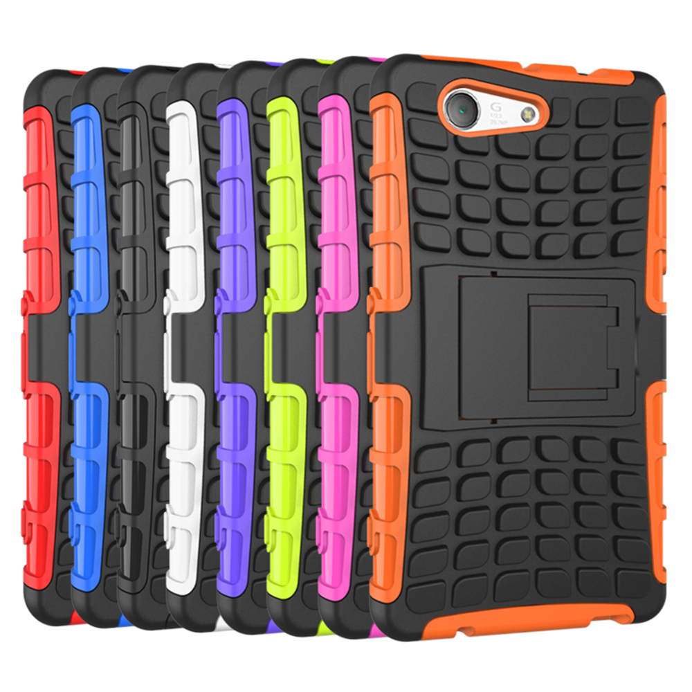 Cover For Sony Xperia Z3 Compact Case D5803 Silicone Hard Phone Case For Sony Z3 Mini Heavy Duty Armor Hybrid Rugged Rubber