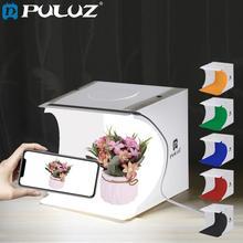 PULUZ 20*20cm 8 Mini Pieghevole Studio Diffusa Soft Box Lightbox Con La Luce del LED Nero Bianco Fotografia di Sfondo photo Studio box