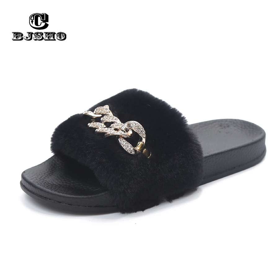 CBJSHO Fluffy Fur Slippers Open Toe Soft Indoor Home Slippers Women Shoe  Slip On Flat with Comfortable Warm Slippers Shoes Woman-in Slippers from Shoes  on ... 52e41c5d7cb3