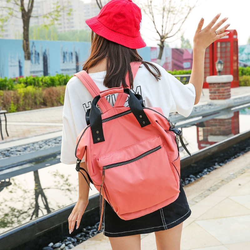 Image 3 - Fashion Women Waterproof Multifunctional Nylon Backpack Tote Shoulder BackpackBackpacks   -
