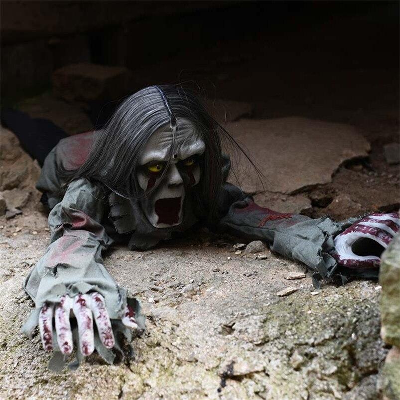 Chaud Halloween ramper fantôme partie décoration électrique poupée hantée Halloween cadeau créatif fantôme diable Reaper maison décor jouet