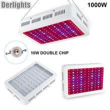 Полный спектр 1000 Вт растет свет двойной чип растет свет лампы красный/синий/белый/uv /ИК для гидропоники и комнатных растений