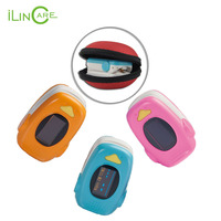 Deluxe Fingertip Pulse Oximeter With Alarm Silicon Cover Lanyard Carry Bag