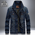 2016 New Spring & Autumn Denim Jacket Men Turn-Down Collar Fashion Slim Outerwear Jaquetas Masculino Jeans Jacket Plus size 4XL
