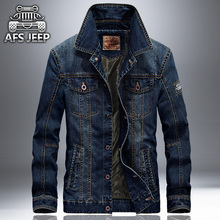 2016 neue Frühling & Herbst Jeansjacke Männer Drehen-unten Kragen Mode Dünne Oberbekleidung Jaquetas Masculino Jeans Jacke Plus größe 4XL