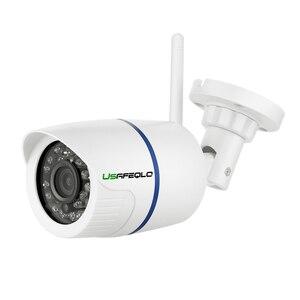 Image 2 - USAFEQLO 1080P 960P 720P bezprzewodowa kamera IP iCSEE P2P RTSP wykrywanie ruchu wodoodporna kamera WiFi Bullet z 128G gniazdo kart SD