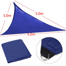 6×3.6×3.6/5x5x5M Sun Shelter Anti-UV Triangle Polyethylene Tent Canopy Triangle Waterproof Shade Outdoor Camping travel awning