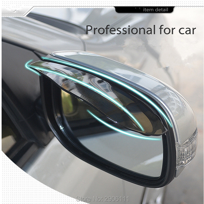 2pcs/lot PVC Car rearview mirror rain eyebrow for Cadillac srx cts ats escalade sts dts bls accessories stickers car-styling