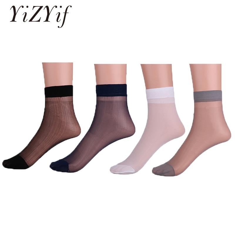 YiZYiF 3 Pairs Mens Thin   Socks   Silk See Through   Socks   Men Sheer Over Ankle Length Stretchy Stockings Cool For Summer men   socks