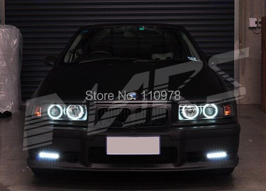 Free Shipping 2Pcs Bumper Bar LED DRL Day-Time Fog Lights Cover Coupe Sedan & M3 For Bmw E36 318 320 323 325 328 free shipping new arrival 35pcs pack 2m pcs led aluminum profile for led strips with milky or transparent cover and accessories