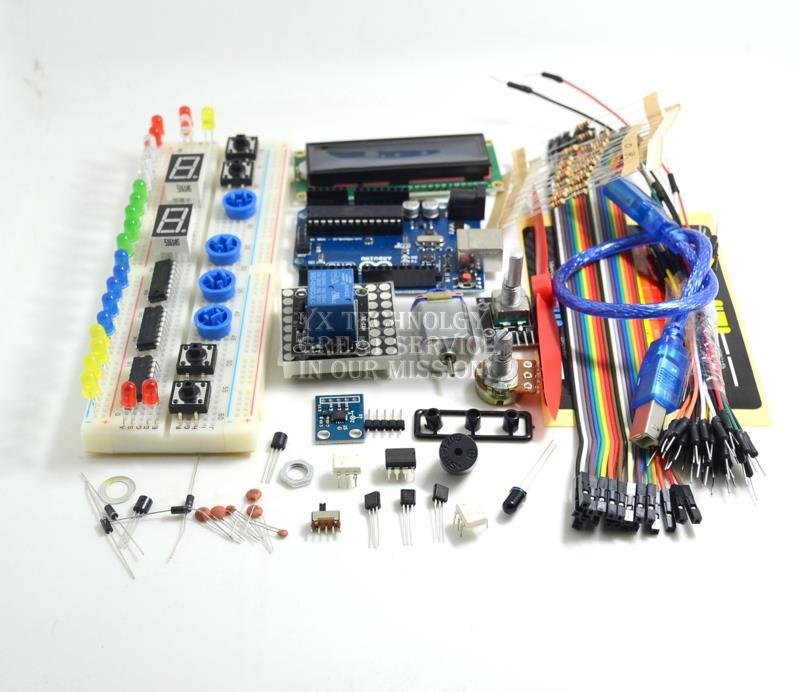 Basic Starter Kit Set UNO R3 Microcontroller Educator LCD 1602 For Arduino TE267 diy