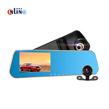 Online/ Full HD 1080P Car Dvr Camera Auto 4.3 Inch Rearview Mirror Digital Video Recorder Dual Lens Registratory Camcorder