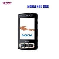 Original NOKIA N95 8GB Mobile Phone 3G 5MP Wifi GPS 2 8 Screen GSM Unlocked Smartphone