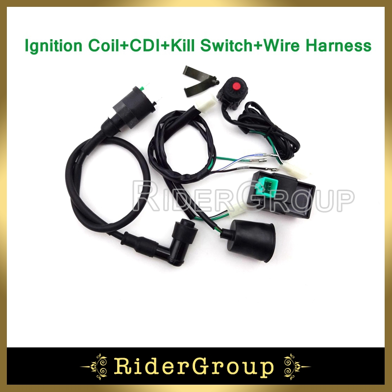 pit dirt bike wiring loom harness kill switch ignition coil ac cdi 2003 KX 125 Monster Energy aeproduct