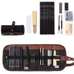 28pcs Sketch Pencil Set Professional Sketching Drawing Kit Set Wood Pencil Pencil Bags For Painter School Students Art Supplies