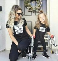 Matching Mother Daughter T Shirts Summer Mum Kids Outfit Mini Boss Family Look T Shirt Super