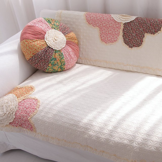 Marvelous Sofa Cover Rustic Sofa Cushion Fabric Cotton Sofa Towel Wood Sofa Cushion  Thickening Couch Cover Flower