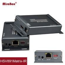 4*4 HSV891 Матрица HDMI удлинитель с ИК по Cat5 передатчик и приемник через Cat6 к UTP Rj45 Ethernet HDMI удлинитель по IP