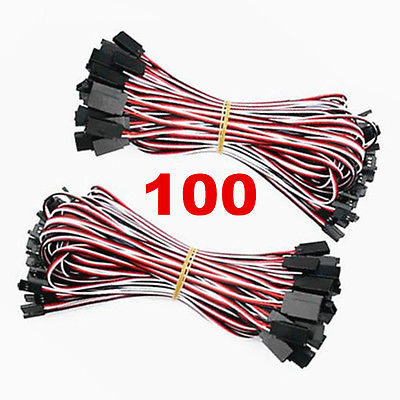 100 x 50cm Servo Extension Lead Cable For Futaba RC Parts futaba servo lead lock black 20 pcs