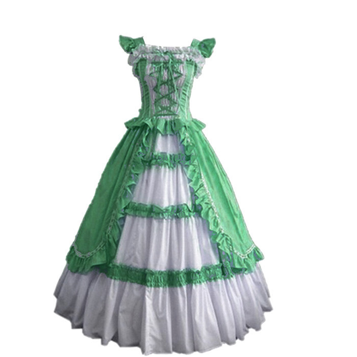 Nouveauté robe de bal Lolita gothique victorienne à manches courtes robe de bal robe fantaisie Costume de fête d'halloween