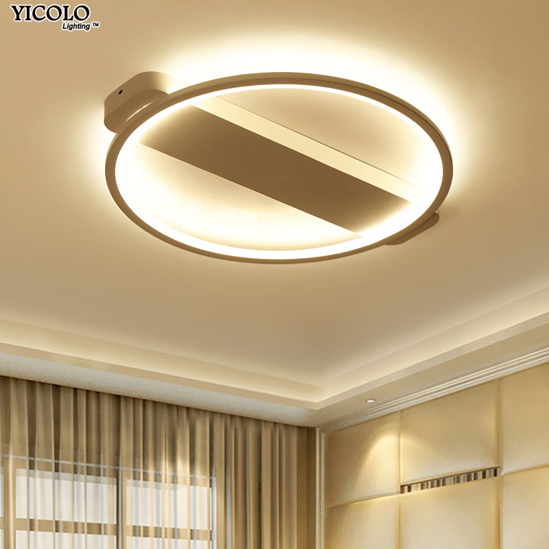 Dimming led ceiling light with round shape black or white color color f living room bed room Luminaire Living Room Lights