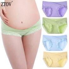 ZTOV 4Pcs/lot Maternity Underwear Pregnancy Panties Belly Support Briefs For Pregnant Women Low Waist UnderPants Panty XXL XXXL недорого