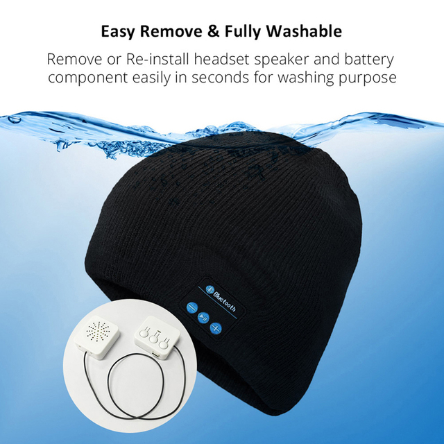 Bluetooth Headphone Winter Hat Warm Beanie Music Cap With Gloves Gifts from Micahtec Shopping