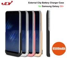 Jlw 6500 мАч Батарея Зарядное устройство чехол для Samsung Galaxy S8 плюс Перезаряжаемые внешнего резервного Батарея клип Портативный Мощность Bank пт S8 +