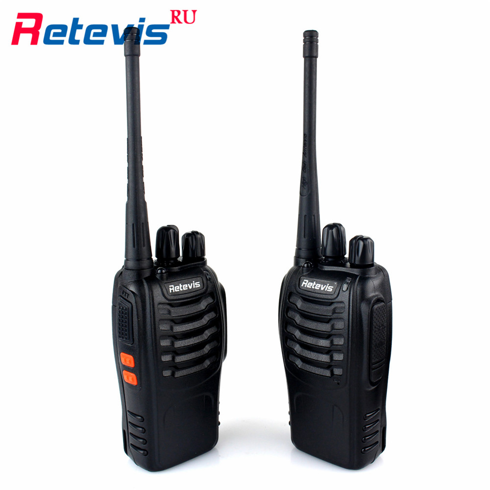 2pcs Portable Walkie Talkie Retevis H777 3W UHF 400 470MHz CTCSS DCS Handy Amateur Radio H