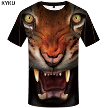 KYKU Brand Tiger T Shirt Eye T-shirts Anger Tshirt Funny 3d T-shirt Animal Femme Sexy Shirts T Shirt Women Hip Hop Fitness