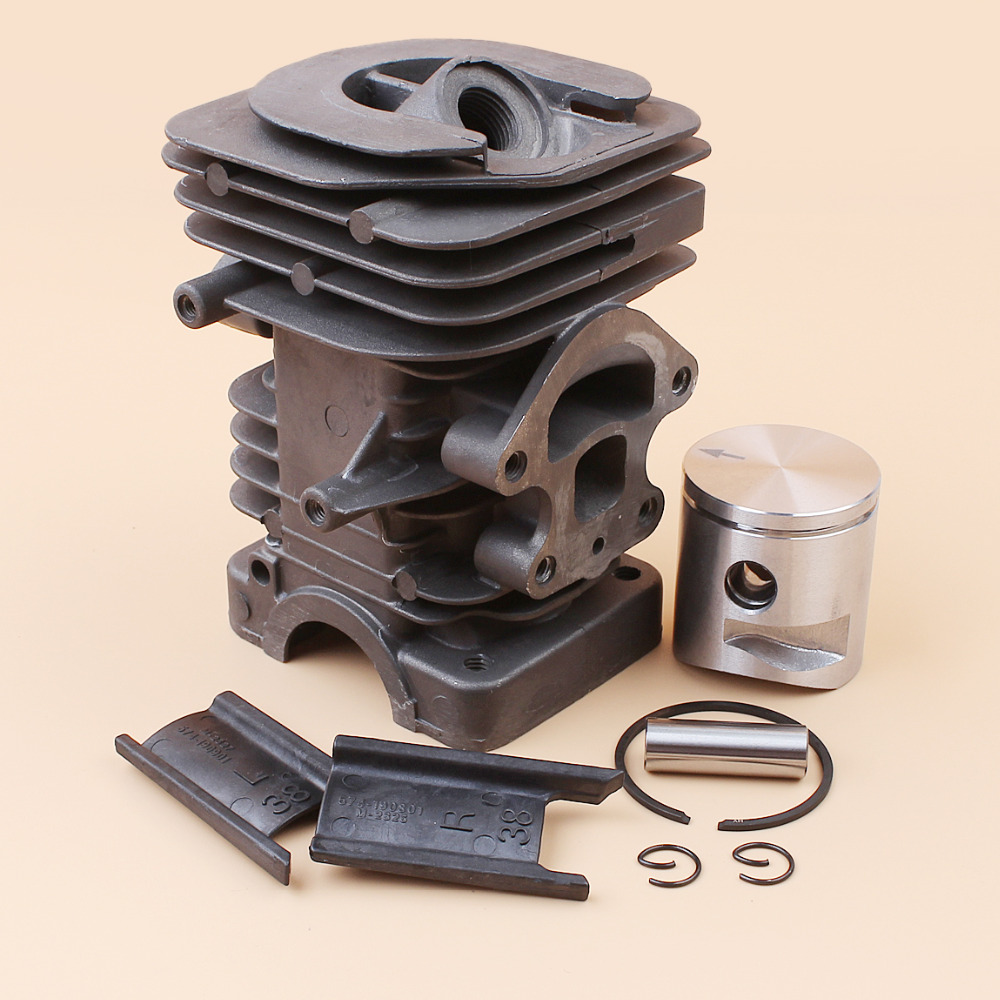 Купить с кэшбэком 39mm Cylinder Piston Kit Fit HUSQVARNA 235 236 236E 240 240E Chainsaw 10mm Pin Engine Motor Parts #545050417
