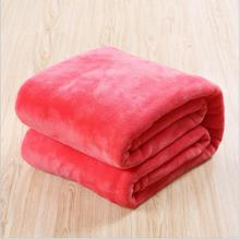 winter Soft Throw Blanket Warm Coral Blankets Travel Flannel Sofa Solid Color Fleece Blankets For Bed Warm Cobertor marble soft decorative double layer berber fleece cozy warm flannel fluffy beautiful color throw blankets for bed or couch sofa