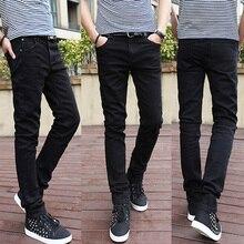 Мода зима теплая утолщаются мужские бархатные джинсы узкие мужские джинсы мужские клеш джинсы Брюки размер 28-34