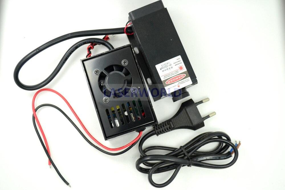 532nm 200mw DPSS Laser Module w/TTL + Fan 10V-220V W/EU-Plug fat beam 60mw 532nm laser diode module w ttl